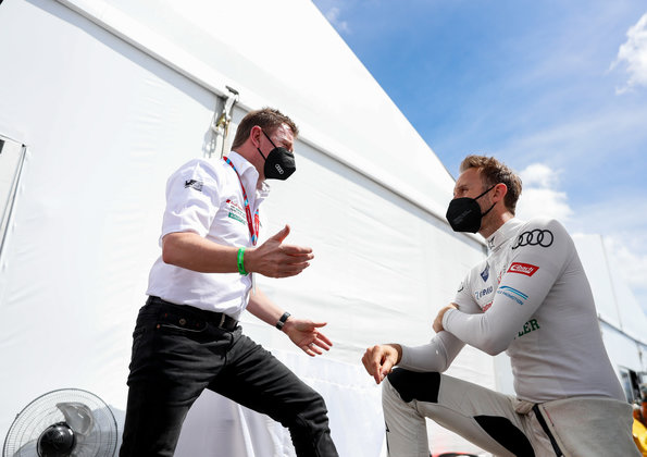 Allan McNish, René Rast,Formula E, Puebla E-Prix 2021 ©Audi