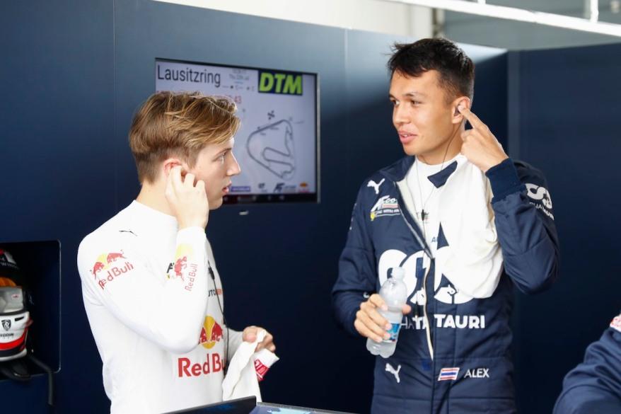 Lawson und Albon, Ferrari @DTM, Hoch Zwei