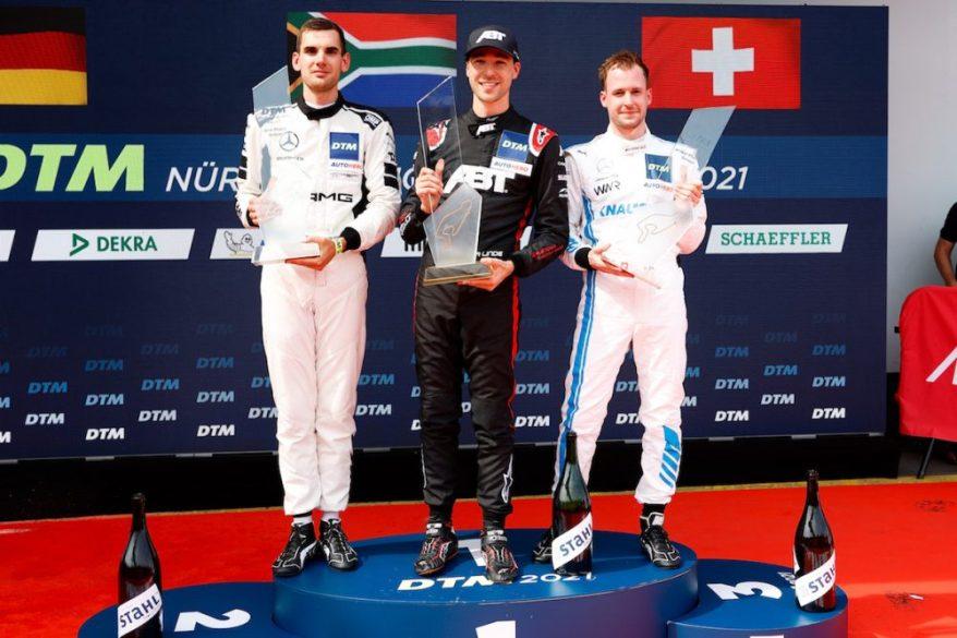 #7 Luca Stolz (GER), TOKSPORT WRT/Mercedes-AMG #3 Kelvin van der Linde (RSA, Abt Sportsline, Audi R8 LMS) #57 Philip Ellis (SUI), Mercedes AMG GT3, Mercedes AMG Team Winward @DTM