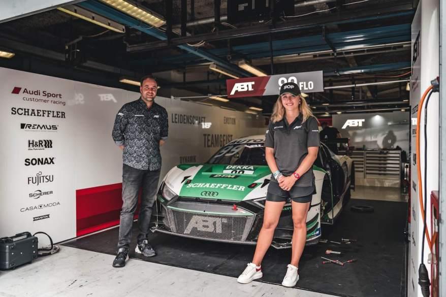 Thomas Biermeier und Sophia Flörsch ©ABT Sportsline